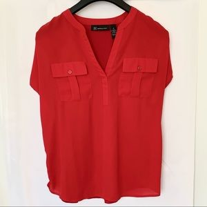 INC International Concepts Red Blouse